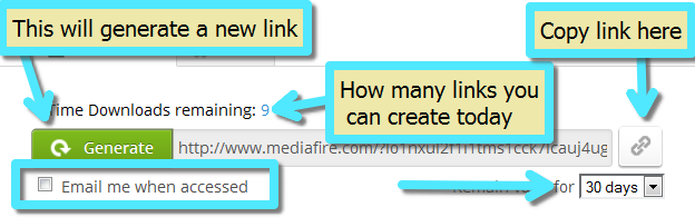 Can I create a one-time download link to a specific file? – Welcome